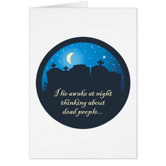I Lie Awake At Night Card