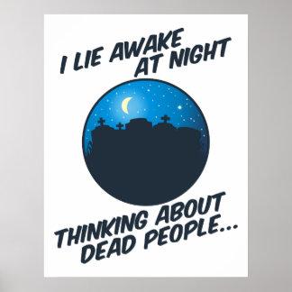 I Lie Awake At Night Posters