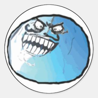I Lied Comic Meme Classic Round Sticker