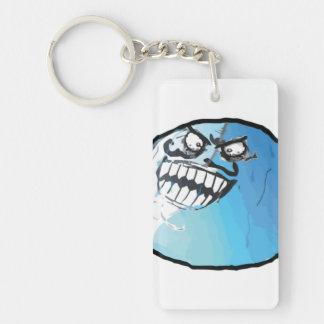 I Lied Comic Meme Single-Sided Rectangular Acrylic Keychain