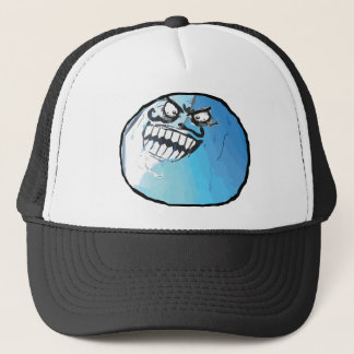 I lied meme rage face trucker hat