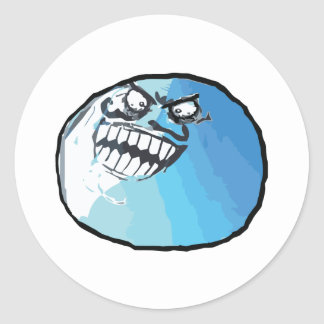 I Lied Rage Face Meme Classic Round Sticker