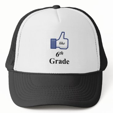 Halloween Themed I LIKE 6TH GRADE! TRUCKER HAT