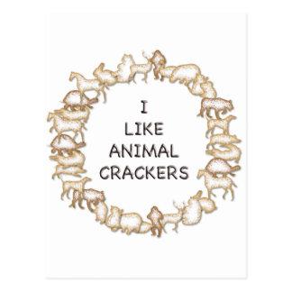 I like animal crackers postcard