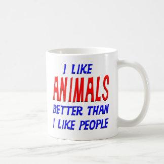 I Like Animals Better Than I Like People Mug
