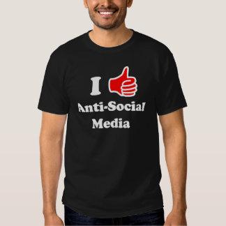 I Like Anti-Social Media T-shirt
