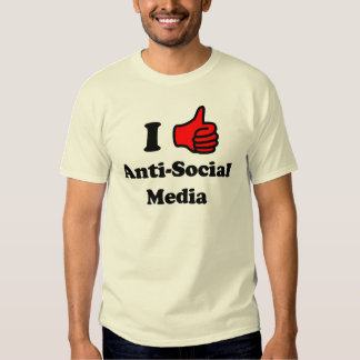I Like Anti-Social Media Tee Shirt