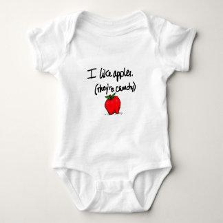 I Like Apples Baby Bodysuit