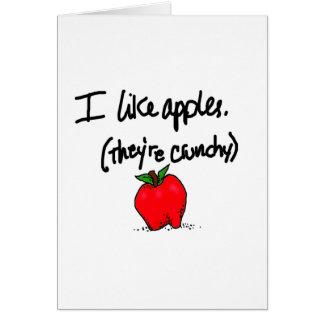 I Like Apples Card