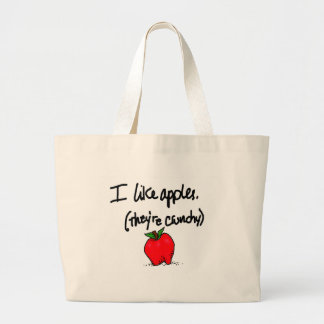 I Like Apples Large Tote Bag