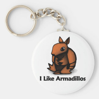 I Like Armadillos Keychain