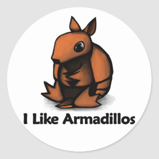 I Like Armadillos Classic Round Sticker