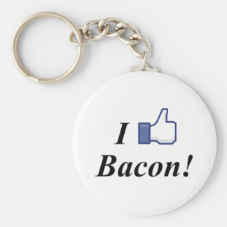 I LIKE BACON! BASIC ROUND BUTTON KEYCHAIN