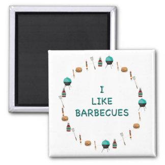 I Like Barbecues Magnet