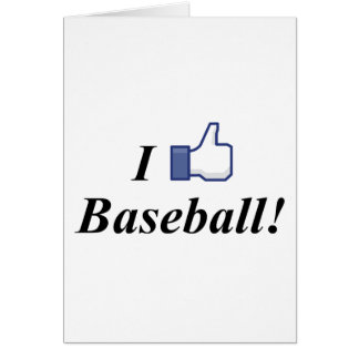 I LIKE BASEBALL! CARD