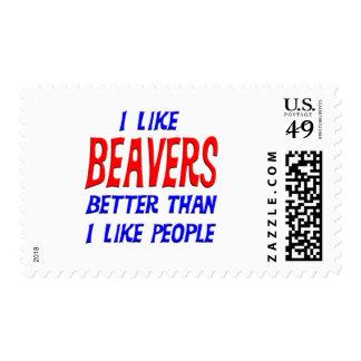 I Like Beavers Better Than I Like People Postage S