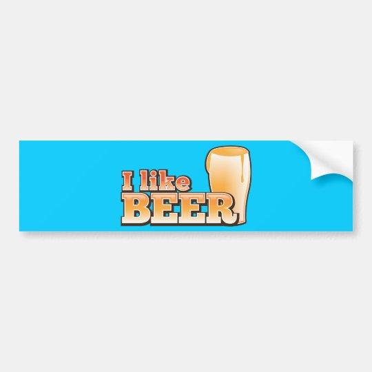 I LIKE BEER alcohol drink design Bumper Sticker