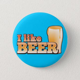 I LIKE BEER alcohol drink design Pinback Button