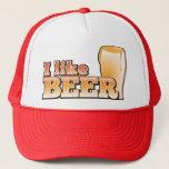 """I LIKE BEER alcohol drink design Trucker Hat<br><div class=""""desc"""">I LIKE BEER alcohol drink design</div>"""