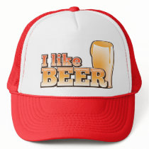 I LIKE BEER alcohol drink design Trucker Hat
