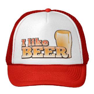 I LIKE BEER alcohol drink design Trucker Hat