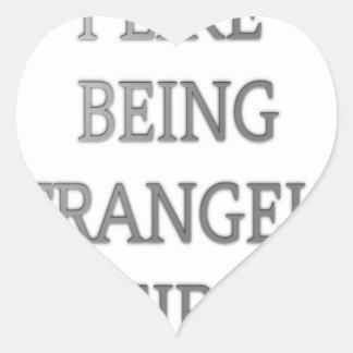 I like being strangely weird .png heart sticker