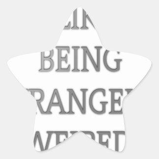 I like being strangely weird .png star sticker