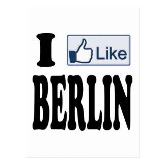 I Like Berlin Germany Postcard