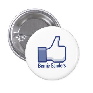 I Like Bernie Sanders Thumbs up 1 Inch Round Button