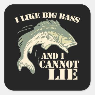 I like big bass and I cannot lie Square Sticker