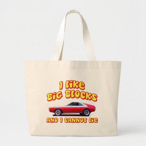 I Like Big Blocks AMC AMX Large Tote Bag