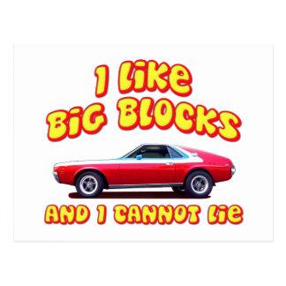 I Like Big Blocks AMC AMX Postcard