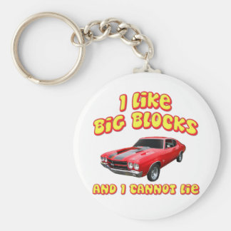I Like Big Blocks And I Cannot Lie Chevelle Keychain