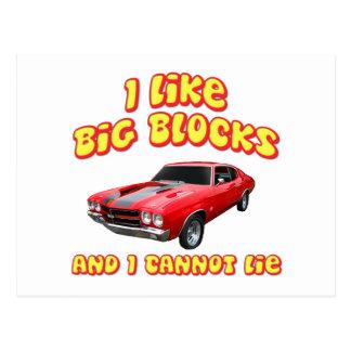 I Like Big Blocks And I Cannot Lie Chevelle Postcard