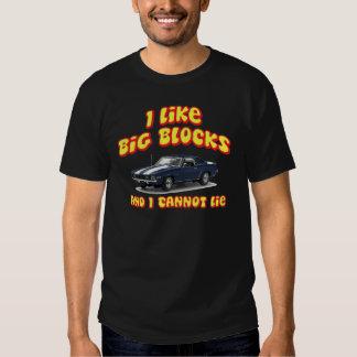 I Like Big Blocks And I Cannot Lie Chevy Camero Shirt