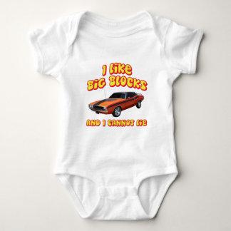 I Like Big Blocks & I Cannot Lie Dodge Challenger Baby Bodysuit