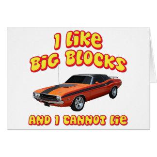 I Like Big Blocks & I Cannot Lie Dodge Challenger Card