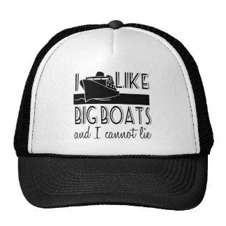 I Like Big Boats Cruise Trucker Hat
