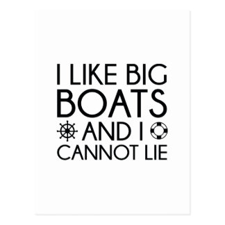 I Like Big Boats Postcard