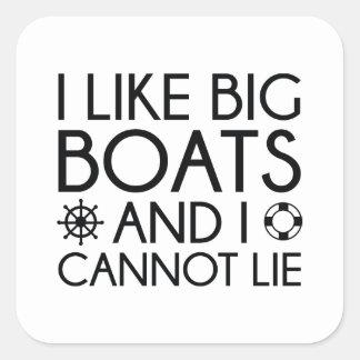 I Like Big Boats Square Sticker