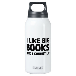 I Like Big Books 10 Oz Insulated SIGG Thermos Water Bottle
