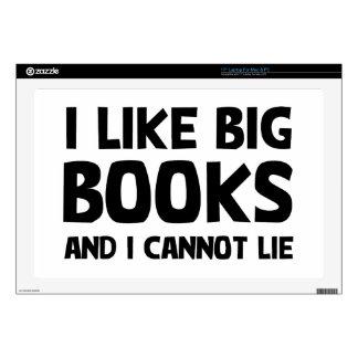 "I Like Big Books 17"" Laptop Decal"