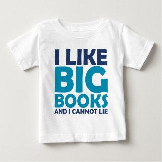I Like Big Books and I Cannot Lie Baby T-Shirt