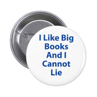 I Like Big Books and I Cannot Lie Pinback Button