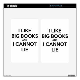 I Like Big Books and I Cannot Lie Decal For Kindle Fire