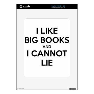 I Like Big Books and I Cannot Lie Decals For The iPad