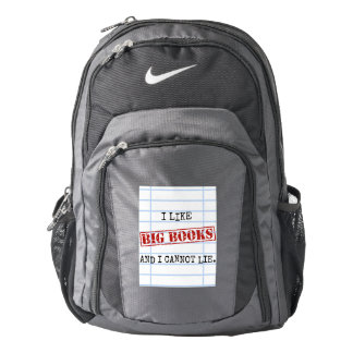 I Like Big Books and I Cannot Lie Funny Library Nike Backpack