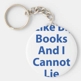 I Like Big Books and I Cannot Lie Basic Round Button Keychain