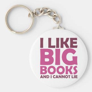 I Like Big Books and I Cannot Lie Keychains
