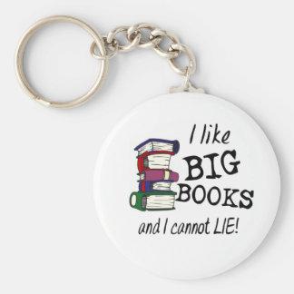 I like BIG BOOKS and I cannot LIE! Keychain